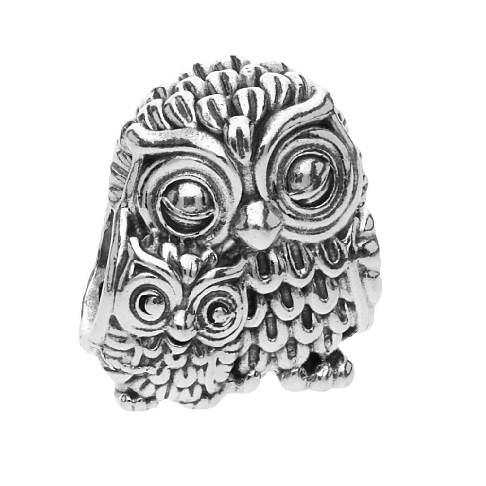 Pandora Silver Charming Owls Charm 791966 The Jewel Hut