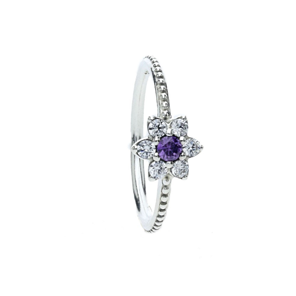 0dde3f006 PandoraSilver Cubic Zirconia Forget Me Not Ring 190990ACZ. £40.00 £34.50.  Click to enlarge. Drag image to spin