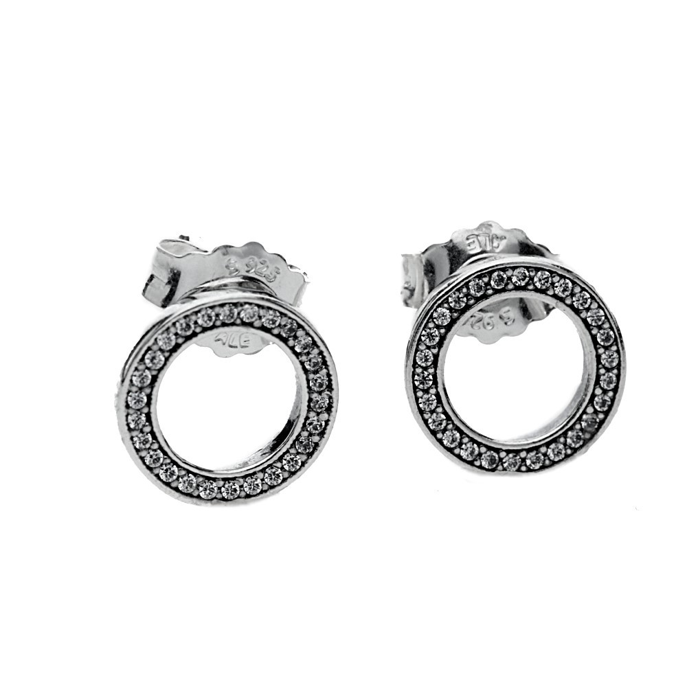 fa62b782c PandoraForever Stud Earrings 290585CZ. £45.00. Click to enlarge. Drag image  to spin