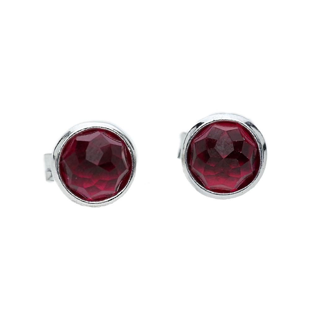 Pandora Mens Earrings: Pandora July Birthstone Ruby Droplet Earrings 290738SRU