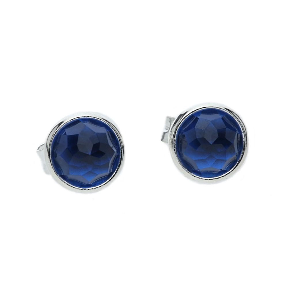 Pandora Mens Earrings: Pandora December Birthstone Blue Crystal Droplet Earrings