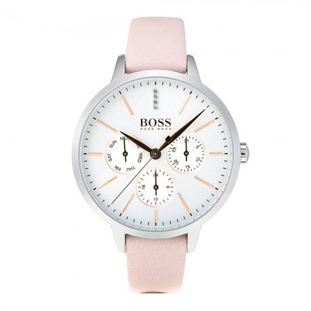 05c4fca84 BOSS Ladies Symphony Pink Strap Watch 1502419 | The Jewel Hut