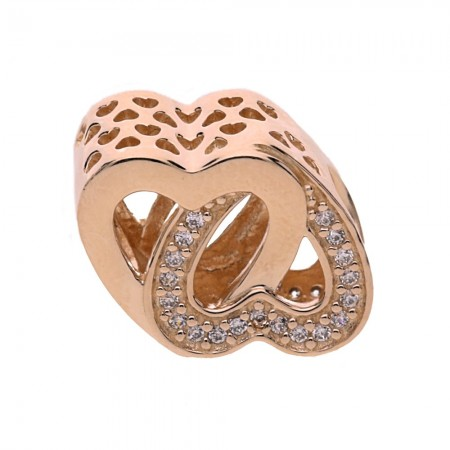 ae2e85112 Pandora RoseEntwined Love Charm 781880CZ. £55.00. Click to enlarge. Drag  image to spin