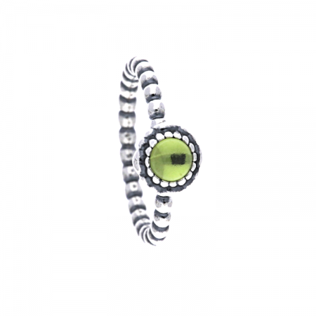 af71b83e7 PandoraSilver Beaded Peridot August Birthstone Ring 190854PE. £40.00  £25.00. Click to enlarge. Drag image to spin