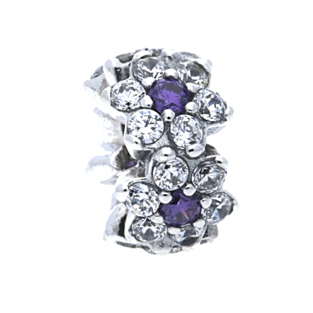 1dbfbb521 PandoraForget Me Not Spacer 791834ACZ. £35.00 £26.00. Click to enlarge.  Drag image to spin
