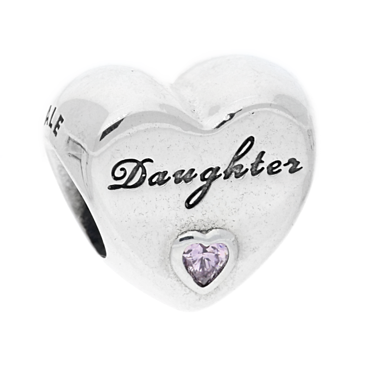 a022cc3ec PandoraSilver Pink Cubic Zirconia Daughters Love Charm 791726PCZ. £35.00.  Click to enlarge. Drag image to spin
