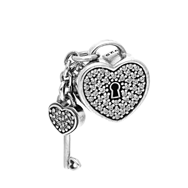 Pandora Lock Of Love Charm 791429cz The Jewel Hut