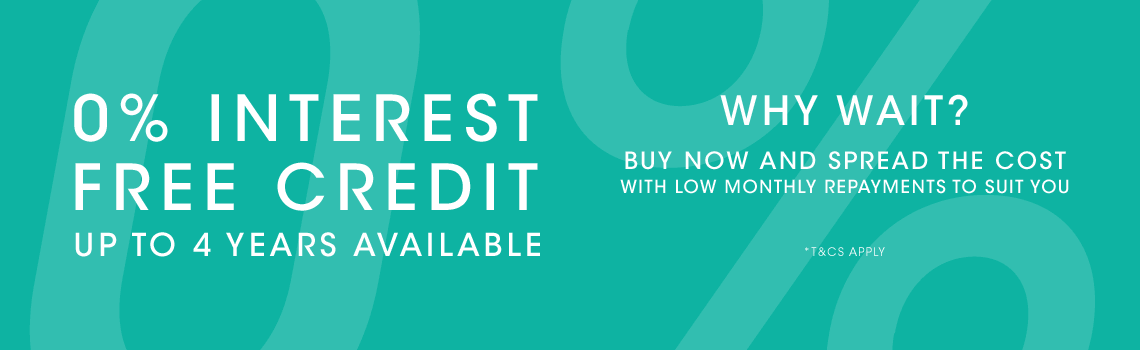 0% Interest Free Credit - Up to 4 years available